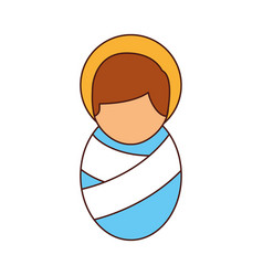 Cartoon cute baby jesus christ christmas image vector