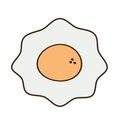 Cartoon fried egg nutrition breakfast vector