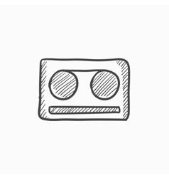 Cassette tape sketch icon vector image