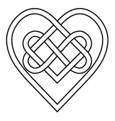 celtic knot rune bound hearts infinity symbol vector image