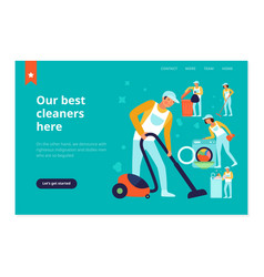 cleaning service web banner vector image