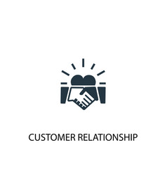 Customer relationship icon simple element vector