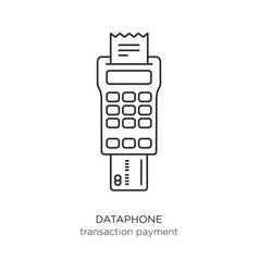 dataphone transaction payment icon vector image