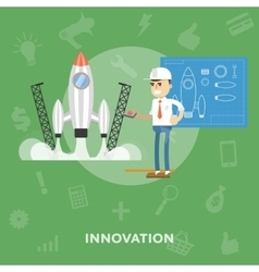 Development of innovations and business ideas vector