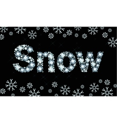 Diamond word snow vector image vector image