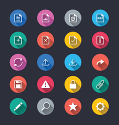 document simple color icons vector image