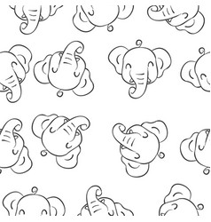 Doodle of elephant animal style vector