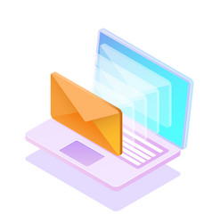 email notification concept new vector image