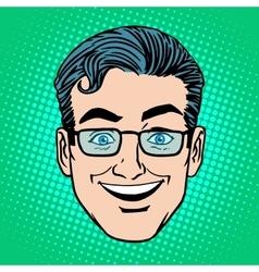Emoji smile laughter man face icon symbol vector