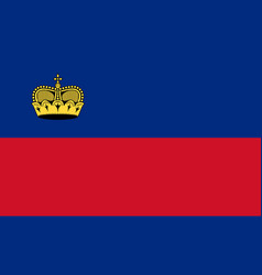 flag of liechtenstein official colors and vector image