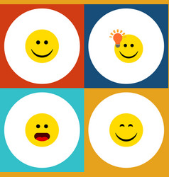 flat icon expression set of wonder have an good vector image