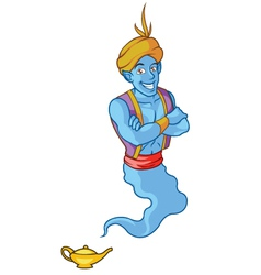 Friendly Genie vector image