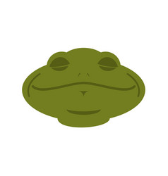 frog sleeping emoji toad avatar asleep amphibious vector image
