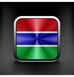 Gambia icon flag national travel icon country vector