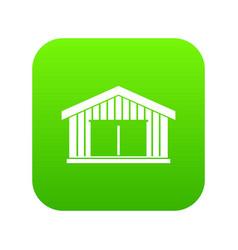 garage icon digital green vector image