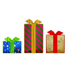 gift boxes different colors and sizes isolated vector image