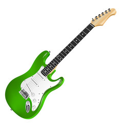 green electric guitar classic vector image