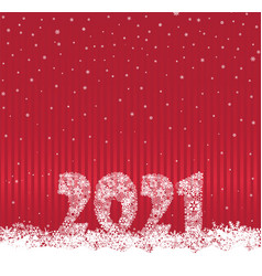 happy new year red festive curtain background vector image