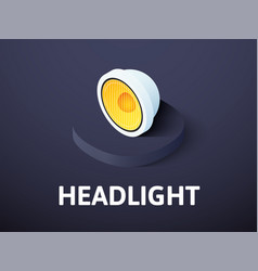 Headlight isometric icon isolated on color vector