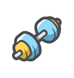 heavy barbell for athletes cartoon vector image