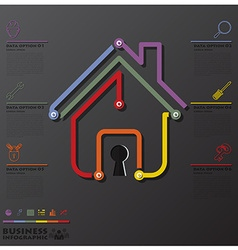 House and real estate connection timeline business vector