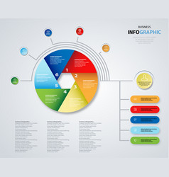 Infographics design marketing icons for business vector