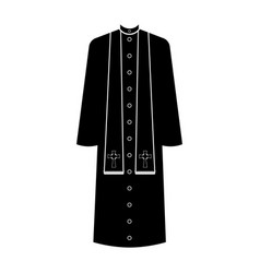 Isolated cassock silhouette vector