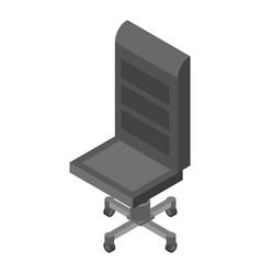 leather office chair icon isometric style vector image