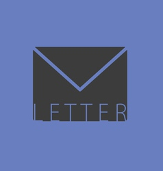 letter envelope illutration on blue vector image vector image