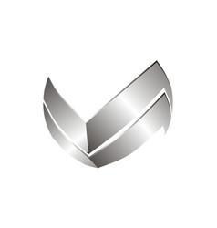 letter v logo design template vector image