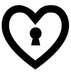 lock heart symbol vector image