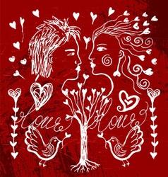 Love set vector image