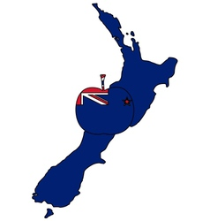 New Zealand apple vector