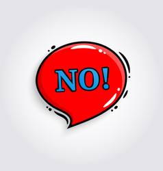 no comic speech bubble banner poster vector image