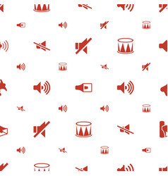 noise icons pattern seamless white background vector image
