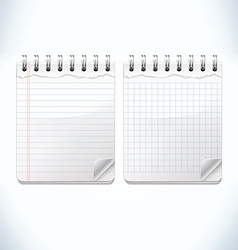 Notepads vector image