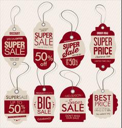 paper price tag retro vintage style design vector image