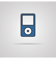 Portable media player icon vector image
