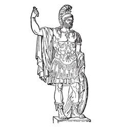 Pyrrhus vintage vector