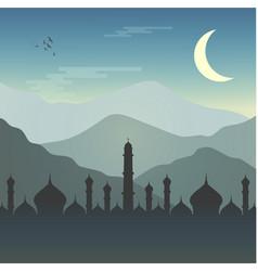Ramadhan kareem mosque vector
