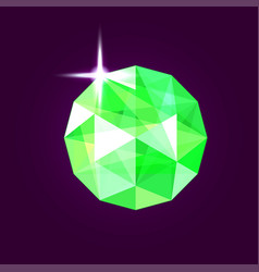 realistic emerald jewel gem vector image