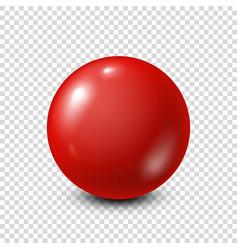 Red lottery billiardpool ball snooker vector