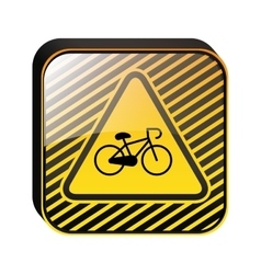 Road signs design with bicycle vector