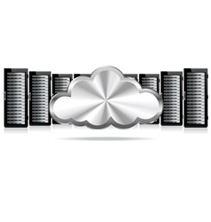 Servers cloud computing vector
