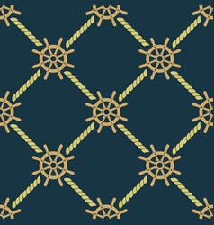 ship steering wheels seamless pattern vector image
