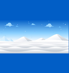 Snow day game background vector