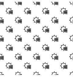 solar panel energy pattern seamless vector image