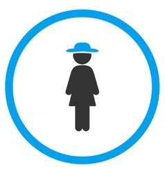 Standing Lady Circled Icon vector