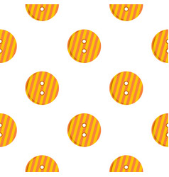 Striped orange and yellow clothing button pattern vector
