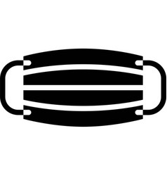 Surgical mask solid style icon vector